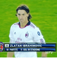 Memes, Zlatan Ibrahimovic, and Back: ZLATAN IBRAHIMOVIC  18 PARTITE 11 GOL IN STAGIONE Zlatan back in the days 👏 - Follow us for more vids ✅