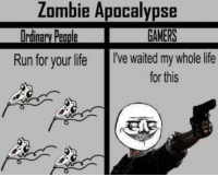 Fucking, Life, and Love: Zombie Apocalypse  Run for your life  I've waited my whole life  for this ~Matt from the page I fucking love gaming Stop By: Pokémon GO