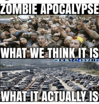 Zombie: ZOMBIE APOCALYPSE  WHAL WETHINKITIS  WHATITLACTUALLY IS