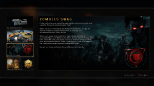 Swag flex clout: ZOMBIES SWAG  If the undead are no match for your skills, why not show off with  a public, Treyarch-authenticated flex?  Switchblade X 9  When you score The Black Ops Authenticity Stamp. you get an  official, Treyarch-supported method of sharing your  achievements after every match  When your game ends, look for a Match Code and link to  www.CallofDuty.com/BOAS in the After-Action Report. Follow the  link, enter the code, and you'll receive a detailed breakdown of  your match performance. Then, show off your stats to friends &  the community to get some well-deserved clout  A Big Blackout Update  So, get out there and show the world what you can do  Zom bies S w a  Earn A Tier S ki  SELECT  ◎CLOSE Swag flex clout