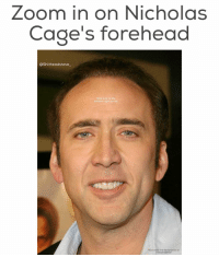 Memes, 🤖, and Looking: ZOOm in On Nicholas  Cage's forehead  OShitheadsteve  Now look at the  bottom right corner  Now steal the declaration of  independence follow @shitheadsteve_