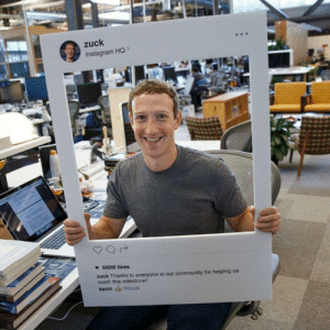 Community, Instagram, and Propaganda: zuck  Instagram HO>  500M likes  zuck Thanks to everyone in our community for helping us  reach this milestone!  kevin si@zuck Minister of Propaganda, Paul Joseph Goebbels, shows off new infiltration apparatus. Berlin, 1934. Colorized