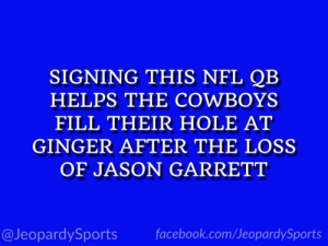 """Who is: Andy Dalton?"" #JeopardySports #Cowboys https://t.co/Dl4fXo6WPh: ""Who is: Andy Dalton?"" #JeopardySports #Cowboys https://t.co/Dl4fXo6WPh"