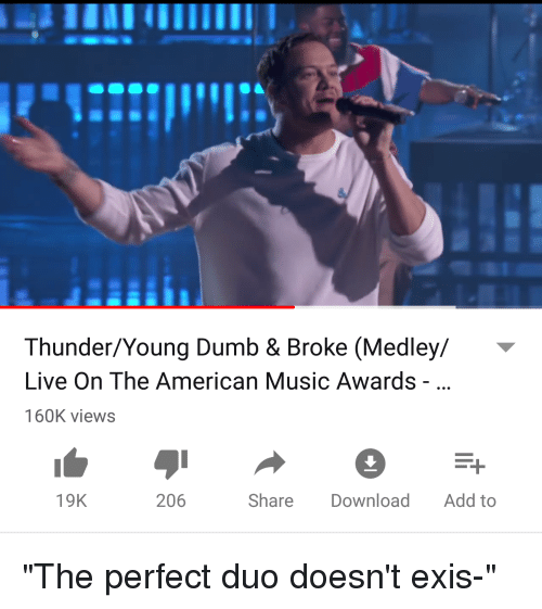 ThunderYoung Dumb & Broke Medley Live on the American Music Awards