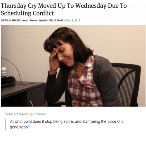 Thursday Cry Moved Up To Wednesday Due To Scheduling Conflict News