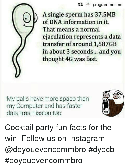 Have more sperm fact