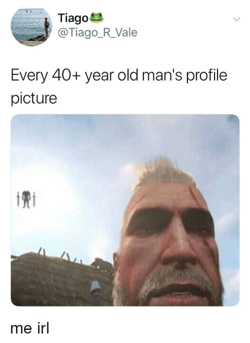 Old man profile picture