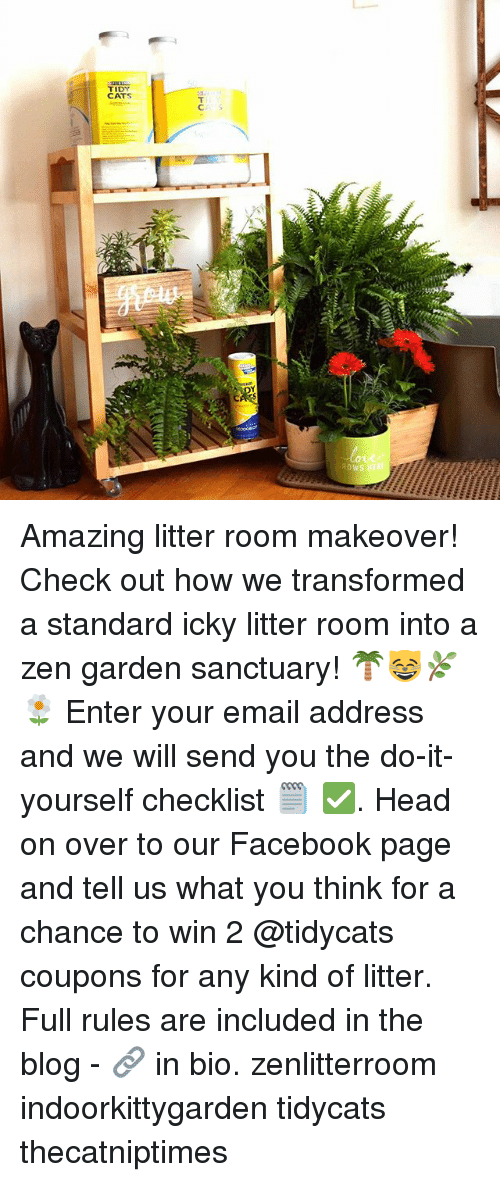 Tidy cats cs ys atc amazing litter room makeover check out how we cats facebook and head tidy cats cs ys atc amazing litter room makeover solutioingenieria Image collections