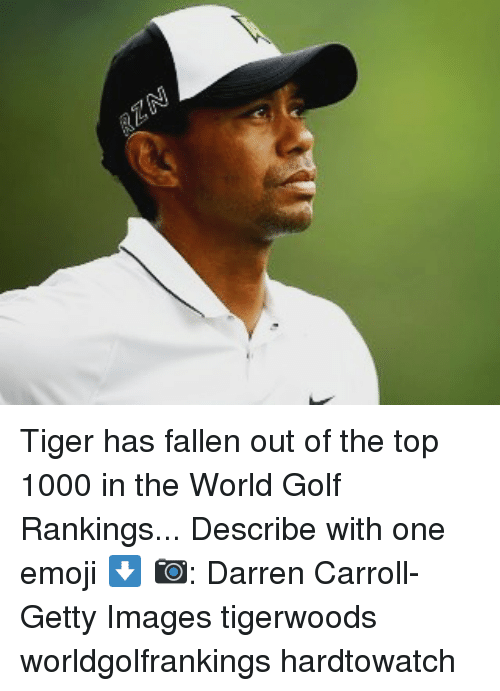 Tiger Has Fallen Out Of The Top 1000 In The World Golf Rankings