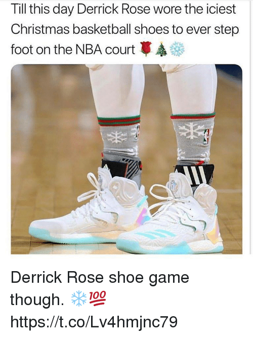 2d5343a47a10 Basketball, Christmas, and Derrick Rose: Till this day Derrick Rose wore  the iciest