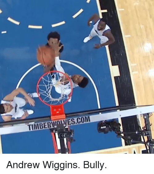Sports, Timber, and Andrew: TIMBER  ES.COM Andrew Wiggins. Bully.