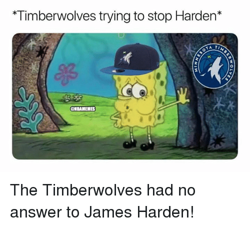 James Harden, Nba, and Answer: Timberwolves trying to stop Harden* The Timberwolves had no answer to James Harden!