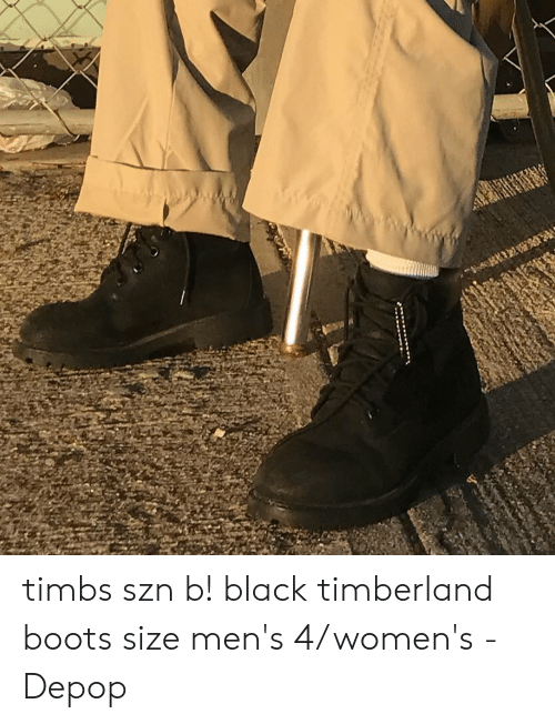 Timbs Szn B! Black Timberland Boots Size Men's 4women's