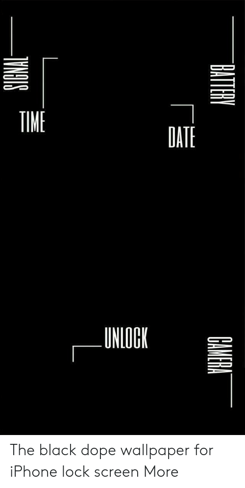 Time Date Unlock The Black Dope Wallpaper For Iphone Lock
