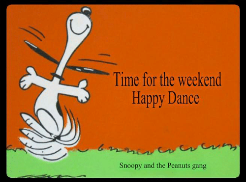 Snoopy happy dance animated
