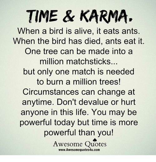 Time Karma When A Bird Is Alive It Eats Ants When The Bird Has