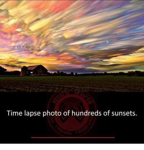 Memes, Time, and 🤖: Time lapse photo of hundreds of sunsets.