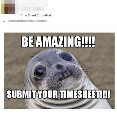 Time Sheet Submittal To BEAMAZING!!! SUBMIT YOUR