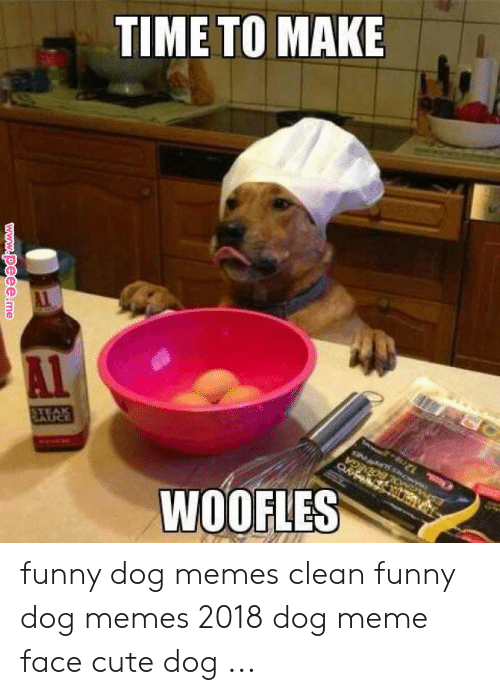 TIME TO MAKE WOOFLES Funny Dog Memes Clean Funny Dog Memes ...