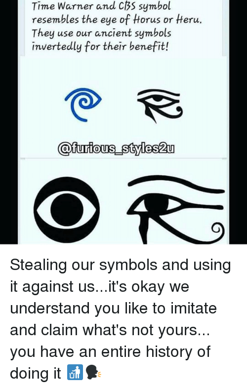 Time Warner And Cbs Symbol Resembles The Eye Of Horus Or Heru They
