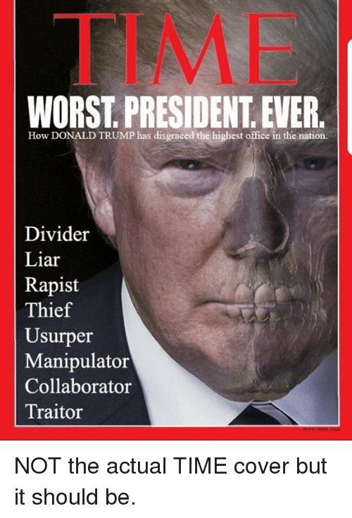 Put a frog in boiling water, it leaps out.  Put it in cool water and turn on the heat, and it stays until it is too late. Time-worst-president-ever-how-donald-trump-has-disgraced-the-30913804