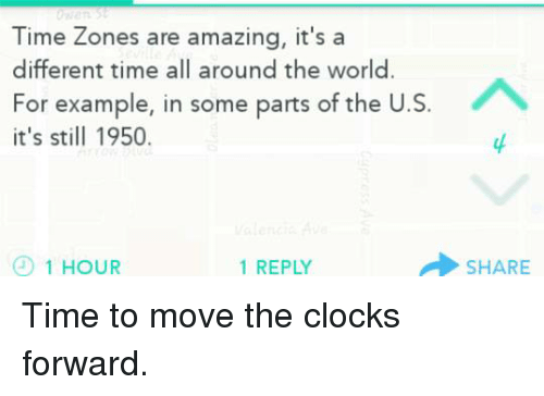 Time Zones Are Amazing It\'s a Different Time All Around the World ...