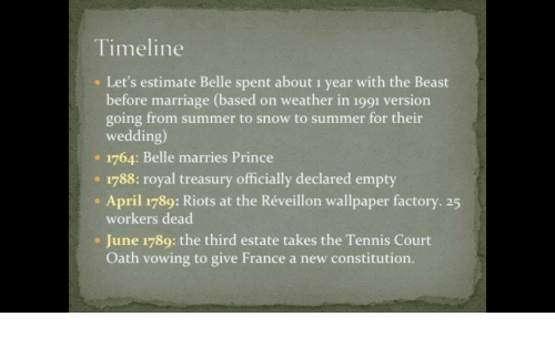 timeline e let s estimate belle spent about 1 year with the beast