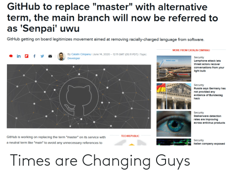 Times, Guys, and Are: Times are Changing Guys