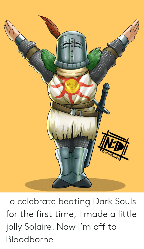 TINEDI NewbieDoodles to Celebrate Beating Dark Souls for the