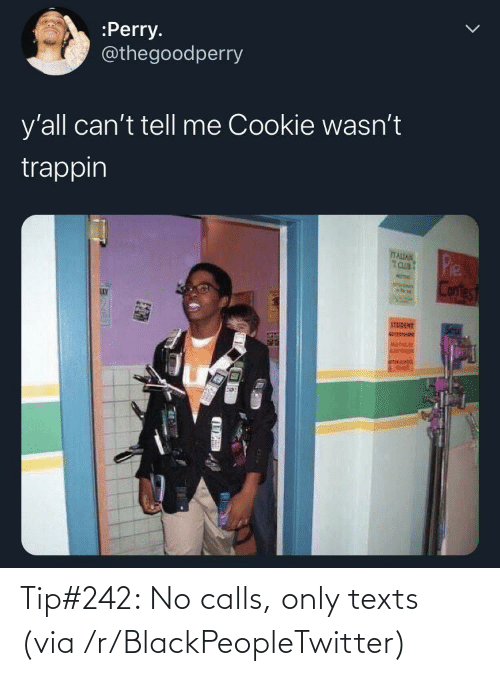 Blackpeopletwitter, Texts, and Via: Tip#242: No calls, only texts (via /r/BlackPeopleTwitter)
