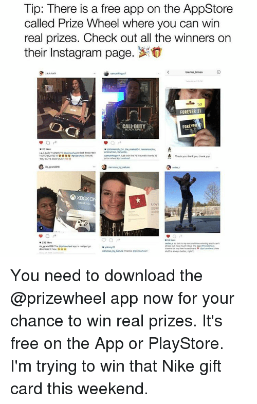 Tip There Is a Free App on the AppStore Called Prize Wheel