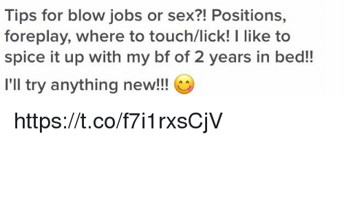 Tips for Blow Jobs or Sex?! Positions Foreplay Where to Touchlick! L ...