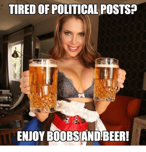 tired of political posts enjoy b00bsandbeer 12772005 tired of political posts? enjoy b00bsandbeer! meme on me me,Political Posts Meme