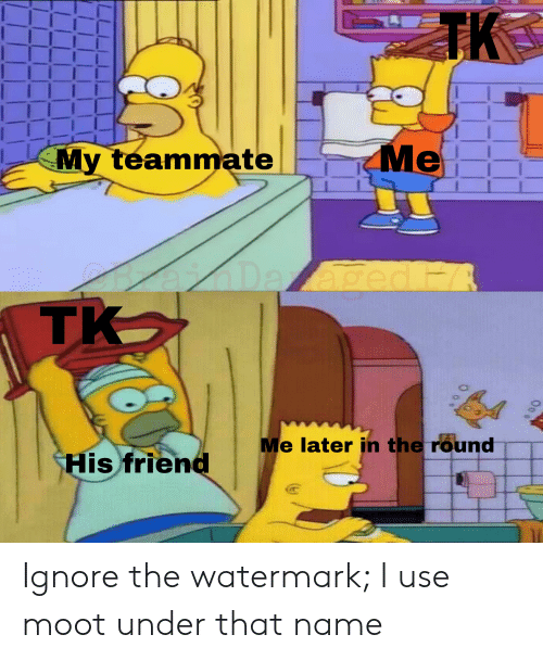 Reddit, Friend, and Name: TK  Me  My teammate  age  тK  H  Me later in the round  His friend Ignore the watermark; I use moot under that name