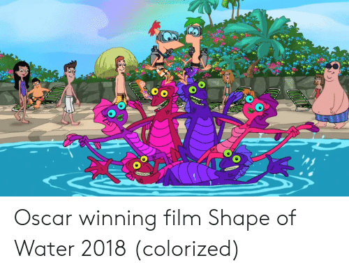 Water, Film, and Oscar: tle Oscar winning film Shape of Water 2018 (colorized)