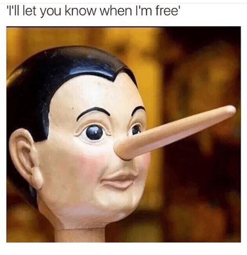 Free, You, and  Know: T'll let you know when I'm free'