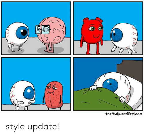 Memes, 🤖, and Com: @tm  the AwkwardYeti.com style update!