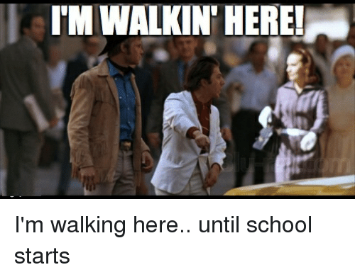 Funny School Meme Pictures : Tmwalkin here i m walking here until school starts funny meme