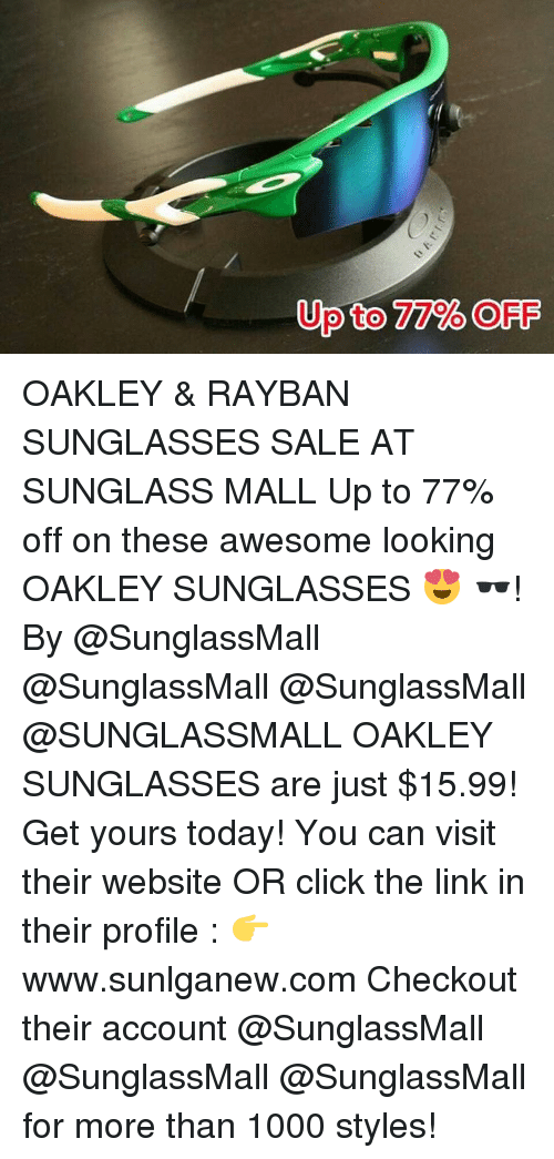 a78ebec75e4de Click, Sports, and Ups  to 77% OFF Up OAKLEY   RAYBAN SUNGLASSES. OAKLEY   RAYBAN  SUNGLASSES SALE AT SUNGLASS MALL ...
