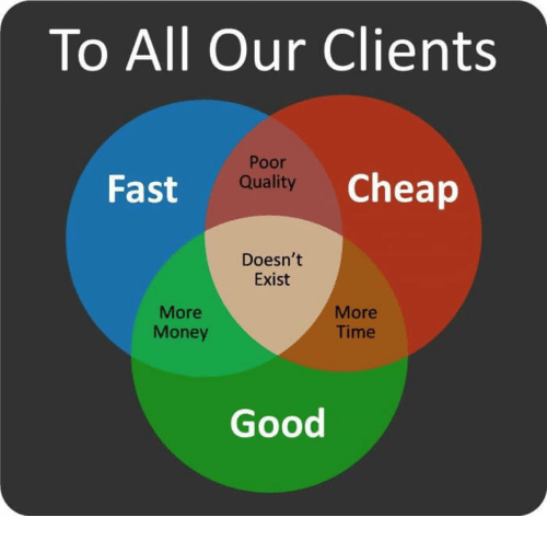 To All Our Clients Poor Quality Fsit Cheap Doesn't Exist ...
