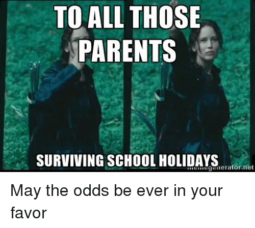 To All Those Parents Surviving School Holidays Generatornet May