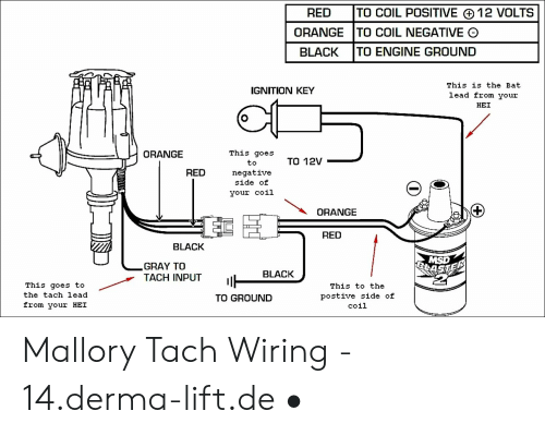 Mallory Ignition Wiring Diagram Blue Red Orange. . Wiring Diagram on