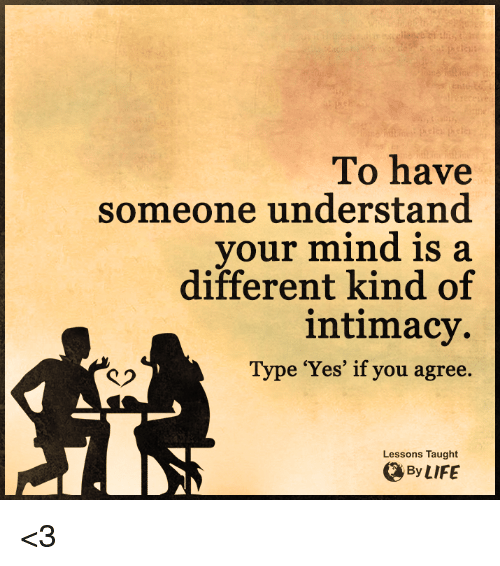 Different types of intimacy
