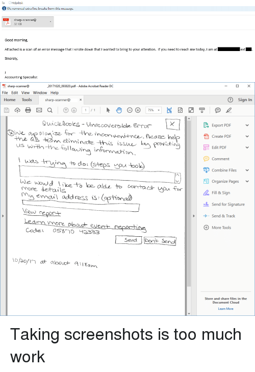 Adobe, Too Much, And Work: To Helpdesk We Removed Extra Line Breaks From