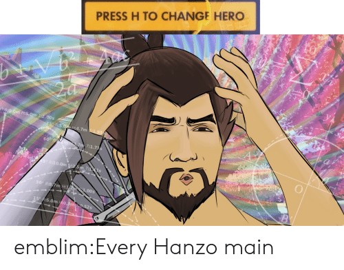 Tumblr, Blog, and Change: to  PRESS H TO CHANGE HERO  T:2.00s  :4.7m  60  7 T:1.7  R:10.0m  300 R:8  m H:1  5.0m /:0.3m emblim:Every Hanzo main
