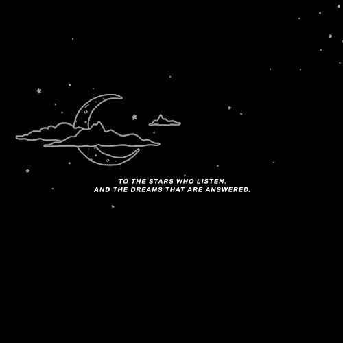 Stars, Dreams, and Who: TO THE STARS WHO LISTEN.  AND THE DREAMS THAT ARE ANSWERED.