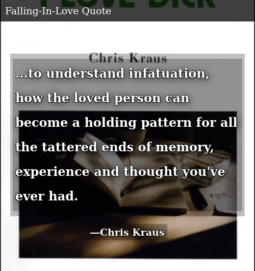To Understand Infatuation How the Loved Person Can Become a Holding