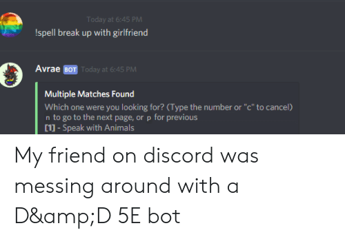 Discord Avrae Commands