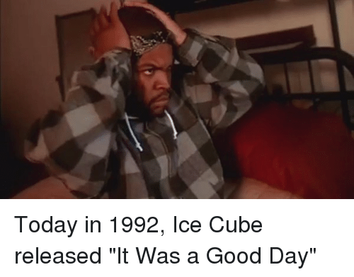 Ice Cube Today Was A Good Day Car 25+ Best Memes About I...