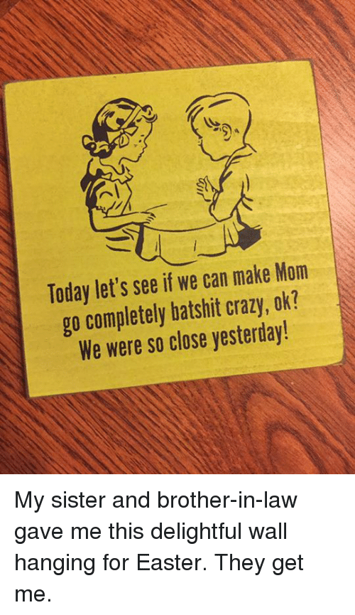 Today Let\'s See if We Can Make Mom Go Completely Batshit Crazy Ok ...